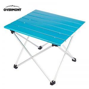 Overmont Table de camping pique-nique pliante portable ultra-légère en Alliage d'aluminium 39,5x35x31cm pour les activités en plein air etc. de la marque Overmont image 0 produit