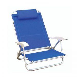 Papillon Playa Chaises de plage en aluminium et tissu avec accoudoirs et appuie-tête de la marque Papillon image 0 produit