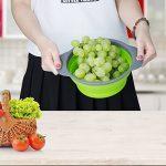 Passoire Pliable Silicone, Diealles Pliable Passoire Pliante Cuisine Fruit Basket Panier de Filtre Collapsible Colander Set pour La Cuisine Usage Domestique (Vert) de la marque Diealles image 3 produit