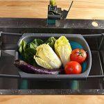 Passoire Rétractable en Silicone, Joyoldelf Passoire Pliable Avec Poignées Extensibles Pour Stocker les Légumes et les Fruits de la marque joyoldelf image 1 produit