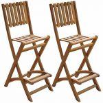 Patio Table et chaises d'extérieur salle à manger Salon de jardin 2places en bois d'acacia de la marque Patio Inc image 2 produit
