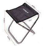 pliant tabouret Léger Aluminium Portable Chaise pliante Camping plein air pêche pique-niques de la marque Silver_river image 1 produit