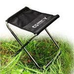 pliant tabouret Léger Aluminium Portable Chaise pliante Camping plein air pêche pique-niques de la marque Silver_river image 4 produit