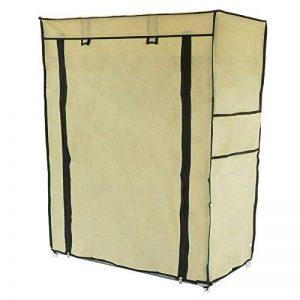 PrimeMatik - Armoire de rangement et chaussures en tissu 60 x 30 x 76 cm beige avec porte rouleau de la marque PrimeMatik.com image 0 produit