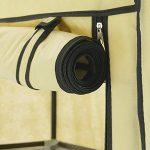 PrimeMatik - Armoire de rangement et chaussures en tissu 60 x 30 x 76 cm beige avec porte rouleau de la marque PrimeMatik.com image 3 produit