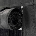 PrimeMatik - Armoire de rangement et chaussures en tissu 60 x 30 x 76 cm noir avec porte rouleau de la marque PrimeMatik.com image 4 produit