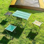 Qiangzi Chaise pliante de plage Chaise pliante Outdoor Ultra-light Portable Camping Chaise de plage Chaise de pêche Tabouret Taille En option (Couleur : Vert, taille : Pack of 1-L) de la marque Chaise pliante image 1 produit
