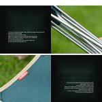 Qiangzi Chaise pliante de plage Chaise pliante Outdoor Ultra-light Portable Camping Chaise de plage Chaise de pêche Tabouret Taille En option (Couleur : Vert, taille : Pack of 1-L) de la marque Chaise pliante image 3 produit