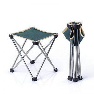 Qiangzi Chaise pliante de plage Chaise pliante Outdoor Ultra-light Portable Camping Chaise de plage Chaise de pêche Tabouret Taille En option (Couleur : Vert, taille : Pack of 1-L) de la marque Chaise pliante image 0 produit