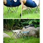 Qiangzi Chaise pliante de plage Chaise pliante Outdoor Ultra-light Portable Camping Chaise de plage Chaise de pêche Tabouret Taille En option (Couleur : Vert, taille : Pack of 1-L) de la marque Chaise pliante image 6 produit