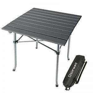 Qisiewell Table de camping Table de plage pliante en aluminium Table de pique-nique portable légère compacte pour intérieur et extérieur Camping Picnic Beach Natation Randonnée BBQ de la marque Qisiewell image 0 produit