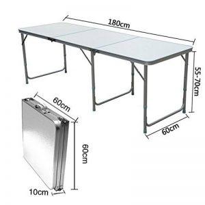 QITAO 6FT Aluminium pliant Table De Voiture Décrochage Buffet/Mariage/Jardin/Street Party In/Out Porte/Marché/Fête/Fair Foldaway de la marque QITAO image 0 produit