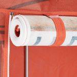 Relaxdays Armoire pliante motif HxlxP: 161 x 83,5 x 42,5 cm penderie pliable en tissu avec 6 étages et une tringle garde-robe rangement camping appoint, téléphone de la marque Relaxdays image 3 produit