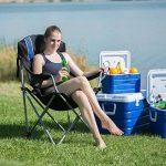 Relaxdays Chaise de camping pliable fauteuil de pêche rembourré avec porte-boissons dossier réglable HxlxP: 108 x 90 x 72 cm, bleu noir de la marque Relaxdays image 1 produit