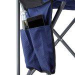 Relaxdays Chaise de camping pliante chaise de jardin pliable avec dossier porte-gobelet et accoudoirs HxlxP : 93 x 77 x 52 cm, bleu noir de la marque Relaxdays image 3 produit