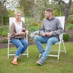 Relaxdays Chaise de jardin en alu pliable métal avec dossier réglable balcon HxlxP; 100 x 56 x 100 cm camping festival, blanc de la marque Relaxdays image 1 produit