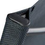 Relaxdays Chaise de jardin pliable plastique et métal chaise balcon pliante camping terrasse wave HxlxP: 87 x 55 x 48,5 cm, anthracite gris de la marque Relaxdays image 3 produit