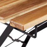 Relaxdays Chaise de jardin pliante lot de 4 en bois nature et métal sans accoudoir HxlxP: 84 x 42 x 44 cm, marron nature de la marque Relaxdays image 2 produit