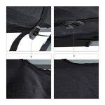 Relaxdays Lit de camp posable en aluminium et PE camping tente pliable avec poches, noir argenté de la marque Relaxdays image 3 produit
