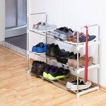 Relaxdays Meuble à chaussures en métal HxlxP: 70 x 90 x 30 cm rangement pour chaussure avec 3 étages pour 12 paires, gris de la marque Relaxdays image 1 produit