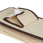 Relaxdays Étagère suspendue tissu pour armoire penderie HxlxP: 82 x 14,5 x 30 cm organiseur pliable 6 compartiments rangements 2 tiroirs, beige de la marque Relaxdays image 4 produit