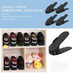 Réglable à chaussures,Rangement Chaussure pour Empiler les Chaussures Réglable Organiseur de Plastique Économie D'espace à Chaussures Support Rack - 8 Paires de Chaussures (Noir) de la marque Greenskon image 2 produit