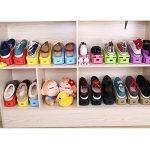 Réglable à chaussures,Rangement Chaussure pour Empiler les Chaussures Réglable Organiseur de Plastique Économie D'espace à Chaussures Support Rack - 8 Paires de Chaussures (Noir) de la marque Greenskon image 4 produit