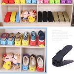 Réglable à chaussures,Rangement Chaussure pour Empiler les Chaussures Réglable Organiseur de Plastique Économie D'espace à Chaussures Support Rack - 8 Paires de Chaussures (Noir) de la marque Greenskon image 3 produit