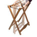 Rustler Table de travail / préparation - Table d'Appoint pliante - Table de Jardin avec Tablette amovible (repliable) - Pour Cuisine, Jardin, Terrasse ou Balcon - Bois d'acacia huilé (brun) FSC 100% - Dimensions: 70 x 51 x 85 cm de la marque Rustler image 3 produit