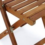 Salon de jardin 2 chaises 1 table pliantes bois huilé acacia balcon terrasse de la marque Deuba image 1 produit