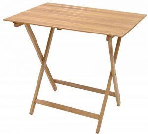 Savino Fiorenzo Table d'appoint ou de camping pliante, en bois naturel, 80x 60cm de la marque Savino Fiorenzo image 0 produit