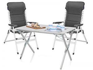 Set Luxe Camping–Grande table de camping en aluminium avec confort Chaises léger & Pliable–facile à ranger. de la marque Campart Travel image 0 produit