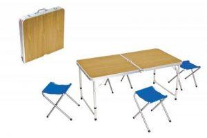 Set Pic Nic Pliable en valise Table + 4tabourets chaises jardin camping GT 257453 de la marque general trade image 0 produit