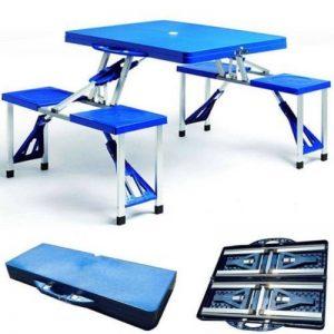 SET PIQUE-NIQUE 4 CHAISES ALUMINIUM ABS TABLE DE CAMPING PLIANTE 973384 VALISE de la marque general trade image 0 produit