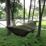 SKL portable haute résistance parachute Hamac avec Moustiquaire en tissu pour camping voyage Vert militaire de la marque SKL image 1 produit