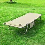 SoBuy® OGS35-MI Chaise Longue Bain de soleil Transat de Jardin Pliant Chaise de Camping inclinable, pliable et réglable – Beige de la marque SoBuy image 3 produit