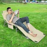SoBuy® OGS35-MI Chaise Longue Bain de soleil Transat de Jardin Pliant Chaise de Camping inclinable, pliable et réglable – Beige de la marque SoBuy image 6 produit