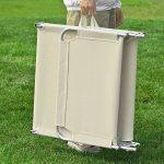 SoBuy® OGS35-MI Chaise Longue Bain de soleil Transat de Jardin Pliant Chaise de Camping inclinable, pliable et réglable – Beige de la marque SoBuy image 4 produit