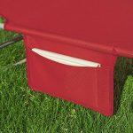SoBuy OGS35-R Chaise Longue Bain de soleil Transat de Jardin Pliant Chaise de Camping inclinable, pliable et réglable - Rouge de la marque SoBuy image 5 produit