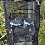 SODIAL Filet sec de camping, sechoir pliant accrochant de maille de 4 couches Etagere Stockage alimentaire Panier a filet pour la vaisselle de BBQ, legumes, poissons, fruits de la marque SODIAL image 2 produit