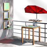 Stabielo Design Elegance Table de camping–Basalte Dark–120x 75x 12cm–Distribution par–Holly® produits Stabielo®–Holly-Sunshade®–Innovation brevetée dans le domaine Mobile universel Protection solaire–Fabriqué en Allemagne–Inclus dans le image 3 produit