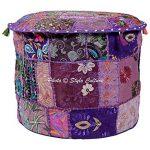 Stylo Culture Cotton Patchwork Tabouret Ottoman Brodé Tabouret Purple Floral Ottoman de la marque Stylo Culture image 1 produit
