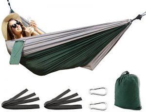 SueH Design Hamac portable en nylon double Hamac simple léger Hamac de parachute Hamac pour camping, randonnée, voyage, plage, cour,backpacking de la marque SueH Design image 0 produit