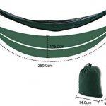 SueH Design Hamac portable en nylon double Hamac simple léger Hamac de parachute Hamac pour camping, randonnée, voyage, plage, cour,backpacking de la marque SueH Design image 3 produit