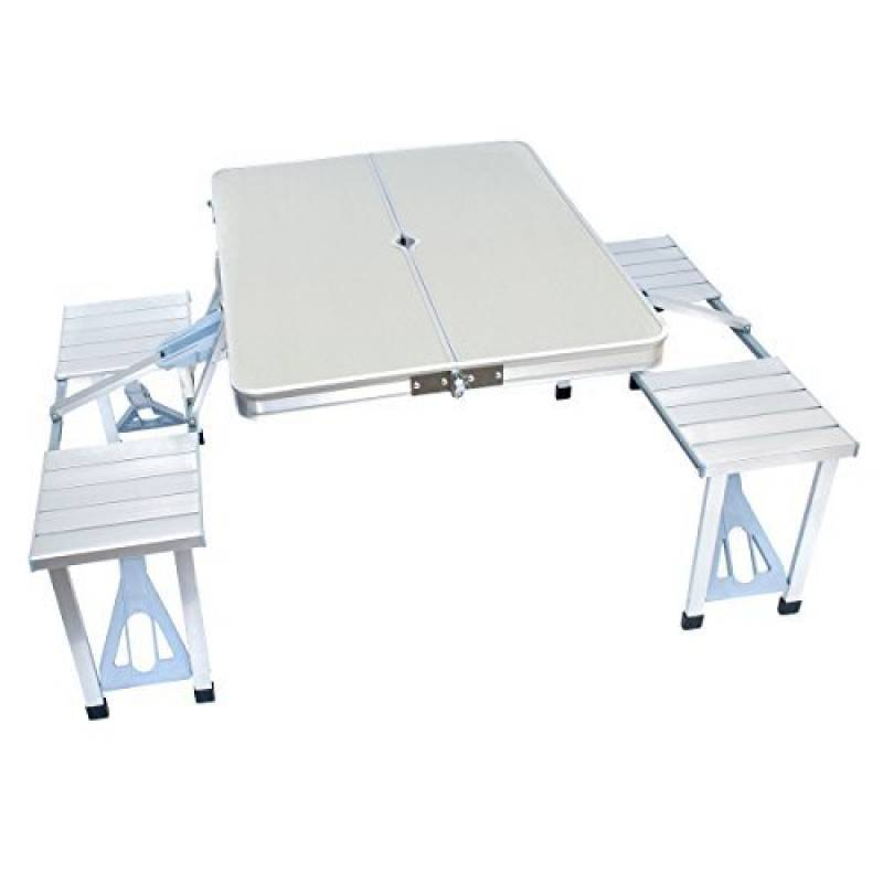 Table pliante de camping jardin BBQ barbecue pique-nique portable en aluminium
