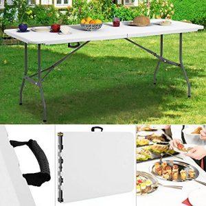 Table Camping buffet traiteur pliante 240 cm Table Jardin Pliable avec poignée de transport de la marque Deuba image 0 produit
