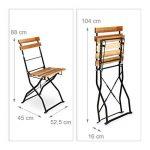 table camping pliante 4 tabourets TOP 7 image 1 produit