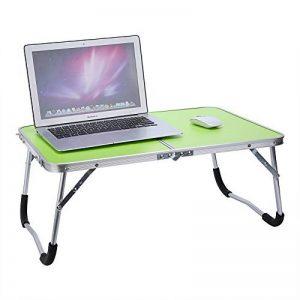 Table d'ordinateur Multifonctionnelle, Table de Lit Pliable Portabe en Alliage d'aluminium Table de Pique-nique Blanche Verte (Vert) de la marque Zerone image 0 produit