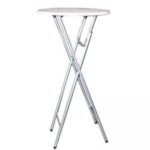 Table de bistrot Ø60cm Mange-debout pliable Table de bar Blanc Table pliante platzsparend de la marque Westerholdt GmbH image 0 produit