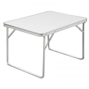 Table de camping ALU MDF blanc pliable 80 x 60 x 68 cm en aluminium - Table Jardin Terrasse de la marque DEUBA GmbH & Co. KG. image 0 produit